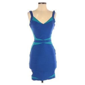 Wow Couture Blue Cut Out Bandage Dress